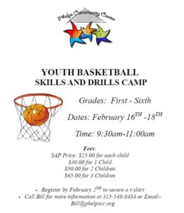 Youth Basketball Skills & Drills Camp @ Phelps Community Center | Phelps | New York | United States