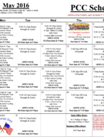 May Fitness Schedule