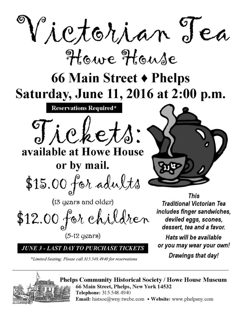 Victorian Tea Party @ Howe House Museum | Phelps | New York | United States