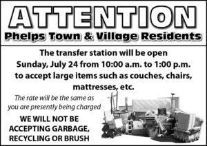 Large Item Drop Off at Transfer Station @ Phelps Transfer Station  | Phelps | New York | United States